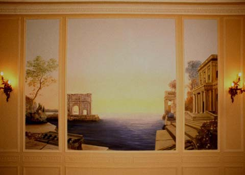 mural painting in dining-room